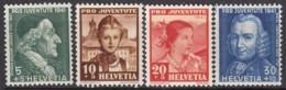 SCHWEIZ  399-402,  Postfrisch **, Pro Juventute 1941, Trachten - Ungebraucht