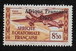 AFRIQUE EQUATORIALE FRANCAISE - AEF - A.E.F. - 1940 - YT PA 19** - VARIETE DE SURCHARGE - A.E.F. (1936-1958)