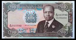 # # # Seltene Banknote Kenia (Kenya) 200 Schillingi 1986 AUNC # # # - Kenia