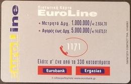 Telefonkarte Griechenland - 02/01 - Werbung - Bank - Euroline (1) - Greece