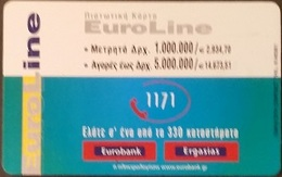 Telefonkarte Griechenland - 02/01 - Werbung - Bank - Euroline (2) - Greece