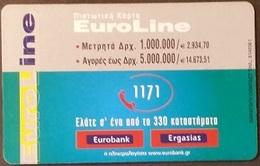 Telefonkarte Griechenland - 02/01 - Werbung - Bank - Euroline (3) - Greece