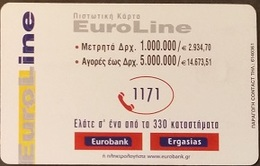 Telefonkarte Griechenland - 02/01 - Werbung - Bank - Euroline (4) - Greece