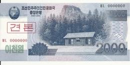 COREE DU NORD 2000 WON 2008 UNC P 65 S - Corée Du Nord
