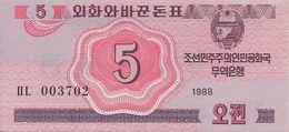 COREE DU NORD 5 CHON 1988 UNC P 32 - Corée Du Nord