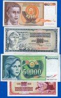 Yougos  8  Billets - Joegoslavië