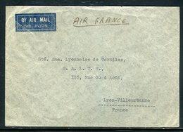 Iraq - Enveloppe De Baghdad Pour La France En 1938 , Affranchissement Tricolore Au Verso - Prix Fixe - Réf JJ 191 - Iraq