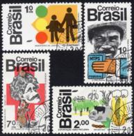 Ref. BR-1268-71-C BRAZIL 1972 AGRICULTURE, PRO RURAL, MAN LAND,, OSWALDO CRUZ,MI# 1352-55,CANCELED NH 4V Sc# 1268-1271 - Brazil