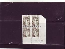N° 2057 - 1F SABINE DE GANDON - 11° Tirage Du 21.2.81 Au 10.3.81 - 9.03.1981 - - - 1970-1979