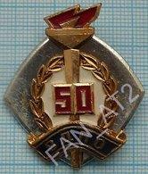 USSR / Badge / Soviet Union / RUSSIA. All-Union Voluntary Fire Society 50 Years. Fireman 1969 - Firemen