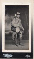 Photo D Un Fantassin ,format Du Carton 10/18,photo Aillaud à Albi - Guerra, Militari