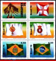 Ref. BR-1581A BRAZIL 1978 HISTORY, BRAZILIAN FLAGS, LUBRAPEX, , PHILATELIC EXHIBITION, SET MNH 5V Sc# 1577-1581 - Expositions Philatéliques