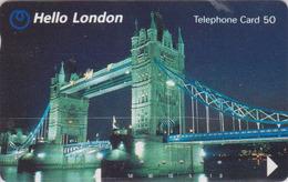 Télécarte Japon / 110-65432 - ANGLETERRE  - PONT TOWER BRIDGE ** HELLO LONDON **  England Rel Japan Phonecard - Site 155 - Landschappen