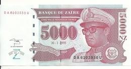 ZAIRE 5000 NOUVEAUX  ZAIRES 1995 (HDMZ) UNC P 69 - Zaire