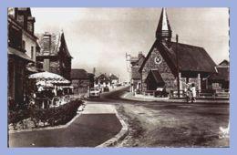 CPSM - Pourville-sur-Mer (76) - 15. L'Eglise Et Rue De La Plage - France