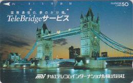 Télécarte Ancienne Japon / 110-011 - ANGLETERRE  - PONT - London TOWER BRIDGE - England Rel Japan Phonecard - Site 157 - Landscapes