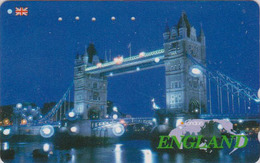 Télécarte Japon / 110-011 - ANGLETERRE  - PONT - London TOWER BRIDGE By Night - England Rel Japan Phonecard - Site 158 - Landschappen