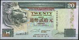 HONG KONG - 20 Dollars 01.01.1993 {Hong Kong & Shanghai Banking Corporation} UNC P.201 A - Hongkong