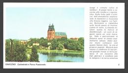 Gniezno - Cattedrale E Parco Piastowski - 15,5 X 8,5 Cm - Educational Card - Pologne