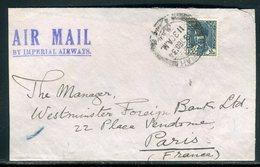 Iraq - Enveloppe De Basrah Pour La France En 1934 - Prix Fixe - Réf JJ 210 - Iraq