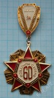 USSR / Badge / Soviet Union / RUSSIA. MIA. Fire Protection 60 Years. Fireman. 1918-1978. - Firemen