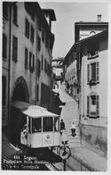 LUGANO → Funicolare Della Stazione E Via Cattedrale Anno 1937 - TI Tessin