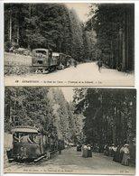 LOT 2 CPA * GERARDMER Le Saut Des Cuves Le Tramway De La Schlucht ( Anlmées / Femmes élégantes Sur La 2e) - Gerardmer