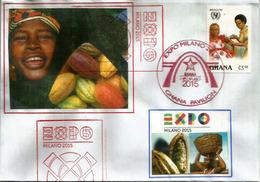"Papaya & Cabosse De Cacaoyer Du Ghana. EXPO MILANO 2015.""FEEDING THE PLANET"" (1 ER PRODUCTEUR DE CACAO) - Alimentazione"