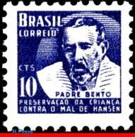 Ref. BR-RA04 BRAZIL 1954 HEALTH, HANSEN DISEASE, LEPROSY,, FATHER BENTO DIAS PACHECO, MI# Z5, MNH 1V Sc# RA4 - Brasilien