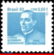 Ref. BR-RA29 BRAZIL 1993 HEALTH, HANSEN DISEASE, LEPROSY,, HANSENIASIS,FATHER S.UCHOA, MI# Z30, MNH 1V Sc# RA29 - Brasile
