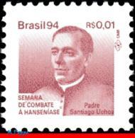 Ref. BR-RA30 BRAZIL 1994 HEALTH, HANSEN DISEASE, LEPROSY,, HANSENIASIS,FATHER S.UCHOA, MI# Z31, MNH 1V Sc# RA30 - Brasile