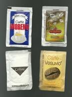 4 Bustine Zucchero Italia - Caffè Italiani  18 - Zucchero (bustine)
