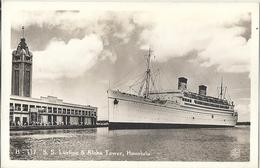 CPSM Etats-Unis Paquebot SS Lurline & Aloha Tower Honolulu - Honolulu