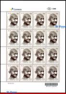 Ref. BR-V2018-072F BRAZIL 2018 FAMOUS PEOPLE, 150 YEARS OF MAHATMA, GANDHI BIRTH, SHEET MNH 16V - Unused Stamps