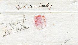 Déboursé N° 55 De Metz Au Tampon Façon Manus Et Déboursé Manus De Boulay Vers 1800 - 1701-1800: Voorlopers XVIII