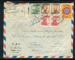Iraq - Enveloppe En Recommandé De Baghdad Pour Téhéran En 1963 - Prix Fixe - Réf JJ 214 - Iraq