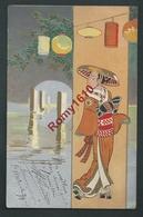 Très Belle Illustration . Japonaise, Geisha. Style Kirchner.  Série 238. Circulé En 1906. Scan Recto/verso. - Illustrateurs & Photographes