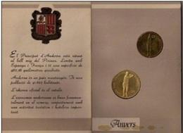 ANDORRA 1987 - BLISTER CON DOS MONEDAS DE 20 DINERS Y 2 DINERS  TENIS DISCIPLINA OLIMPICA - Andorra