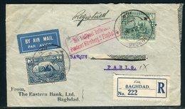 Iraq - Enveloppe En Recommandé De Baghdad Pour Paris En 1930 - Prix Fixe - Réf JJ 217 - Iraq