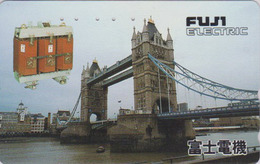 TC Japon / 110-016 - Site  ANGLETERRE  - PONT - London TOWER BRIDGE * FUJI ELECTRIC * England Rel Japan Phonecard 159 - Landscapes