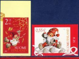 Ref. FI-V2011-2 FINLAND 2011 CHRISTMAS, CUDDLY AND SWINGING, RELIGION - MINT MNH 2V - Finland