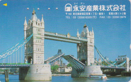 RARE Télécarte Japon / 110-011 - ANGLETERRE  - PONT - London TOWER BRIDGE -  England Rel Japan Phonecard - Site 160 - Landschappen