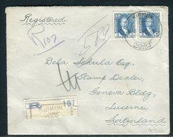 Iraq - Enveloppe ( Découpée Au Verso) En Recommandé De Kirkuk Pour La Suisse En 1931  - Prix Fixe - Réf JJ 221 - Irak