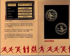 ANDORRA 1992 - BLISTER 2 MONEDAS DE 20 DINERS DE PLATA (SILVER) DEDICADAS A ALBERTVILLE Y BARCELONA '92 - KM#  47 - 48 - Andorre