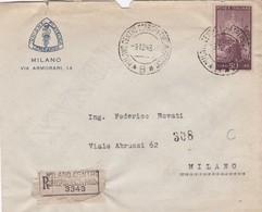 BUSTA VIAGGIATA RACC. - MILANO - UNIONE FILATELICA LOMBARDA - VIAGGIATA  PER MILANO - 6. 1946-.. Repubblica