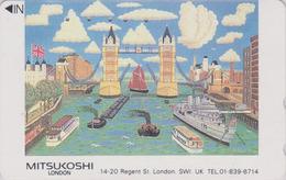 Télécarte Japon / 110-011 - ANGLETERRE - PONT - London TOWER BRIDGE * MITSUKOSHI * England Rel Japan Phonecard  Site 162 - Japan