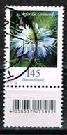 Bund 2018, Michel# 3351 R O  Blumen: Jungfer Im Grünen Mit Rollen EAN Mit Nr. 415 - Used Stamps
