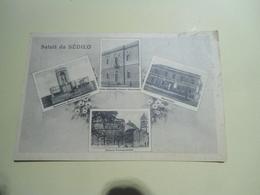 SALUTI DA SEDILO - VEDUTINE - FORMATO PICCOLO B/NERO - VIAGGIATA 1948 - Oristano