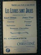 Partition: Christien & Christiné: Les Lèvres Sont Jolies/ Christiné, éditeur - Scores & Partitions