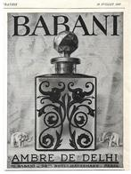 1927 Babani Ambre De Delhi (parfum) - M. Babani Boulevard Haussmann Paris - Publicité - Advertising